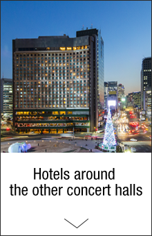 Hotels around the other concert halls